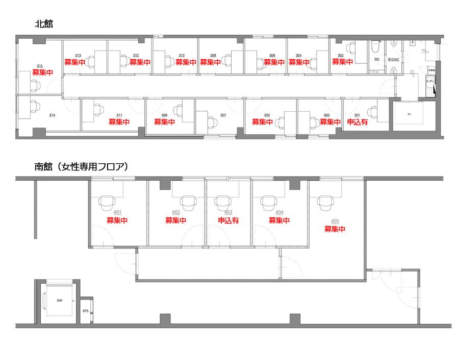 堺筋本町ヒガシビルフロアマップ