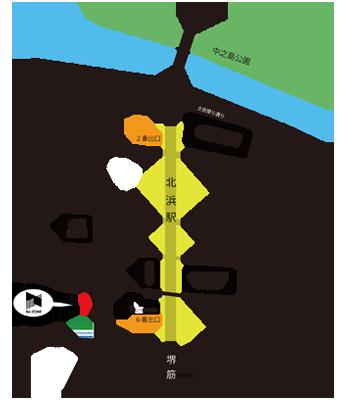 北浜上喜ビル地図